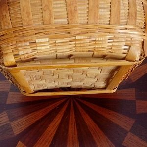 Gamjali StylHOME Accents - Boho Woven Basket Bowl Catch All Tray